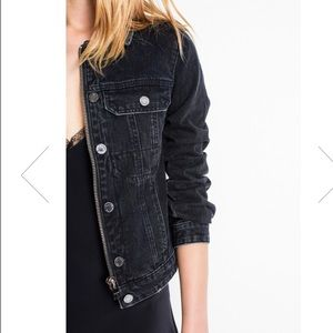 Zadig & Voltaire Black denim jean jacket medium